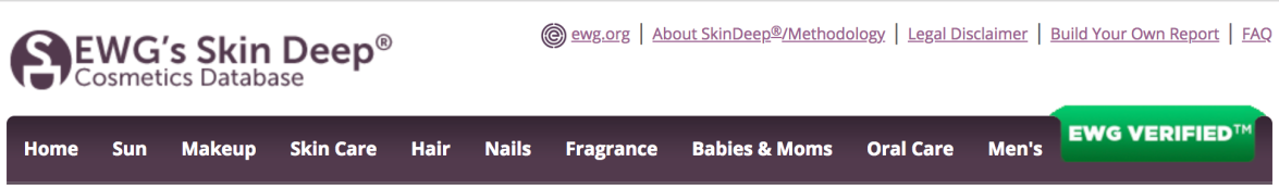 ewg skin deep cosmetics database